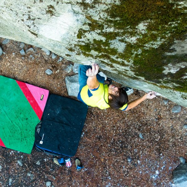 Rock Climbing Photo: The climb becomes v9 right about now.