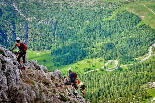 Rock Climbing Photo: The Ferrata is not particularly steep, making a go...