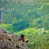 The Ferrata is not particularly steep, making a good outing for kids and novice climbers.