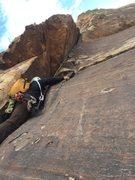 Rock Climbing Photo: P3 of Ginger Cracks, RR