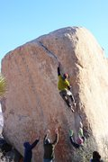 Rock Climbing Photo: Dan Jerke hits the crux on White Rasta
