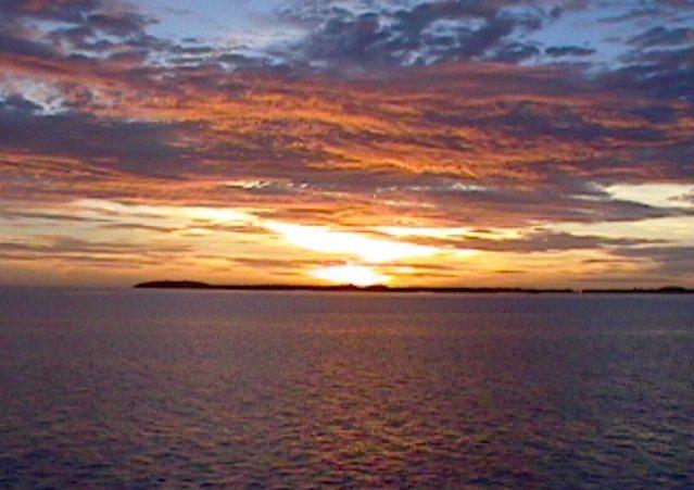 Rock Climbing Photo: Sunset, Palau.