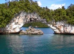 Rock Climbing Photo: The Arch, Rock Islands, Palau.