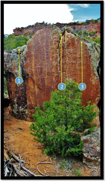 Rock Climbing Photo: Panglossian Pressure is number 3.