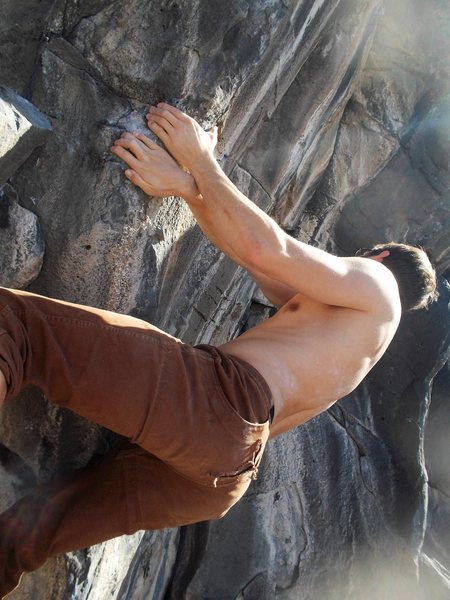 Rock Climbing Photo: Dakotah on the crux