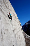 Rock Climbing Photo: Andy past crux 2 and enjoying the giant chickenhea...