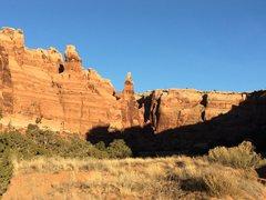 Rock Climbing Photo: The bride