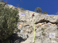 Rock Climbing Photo: Climber on Traditional Values and beta line for Th...