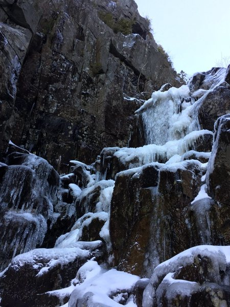 Rock Climbing Photo: First waterfall in early December 2015