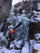Rock Climbing Photo: Thin brittle ice in early December 2015