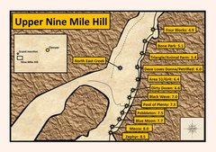 Rock Climbing Photo: Upper Nine Mile Hill. Distances were measured from...