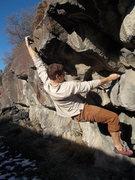 Rock Climbing Photo: Dakotah sticking a big move on Svety Balls