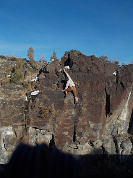 Rock Climbing Photo: High on Svety