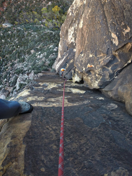 Rock Climbing Photo: View from mid-pitch3
