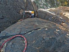 Rock Climbing Photo: Matt Jensen is seen approaching upper belay statio...