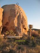 Rock Climbing Photo: 24 Carrot (5.8 R), Joshua Tree NP