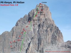 Rock Climbing Photo: Southeast Face of Nelion  photo by M Trout from Le...