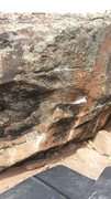 Rock Climbing Photo: A pic of the problem. You can clearly see all hold...
