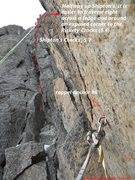 Rock Climbing Photo: pitch 11 and rappel anchor #6