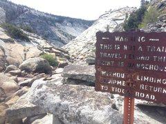 Rock Climbing Photo: signs