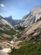 Rock Climbing Photo: Tenaya Canyon with Half Dome in view