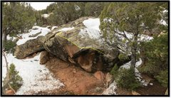 Rock Climbing Photo: More Rearie My Dearie problem beta.