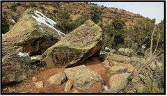 Rock Climbing Photo: Terraslide problem beta.