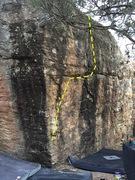 Rock Climbing Photo: Fun, little V3ish problem on Tepee.