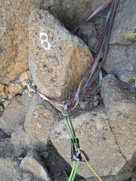 8th rappel anchor