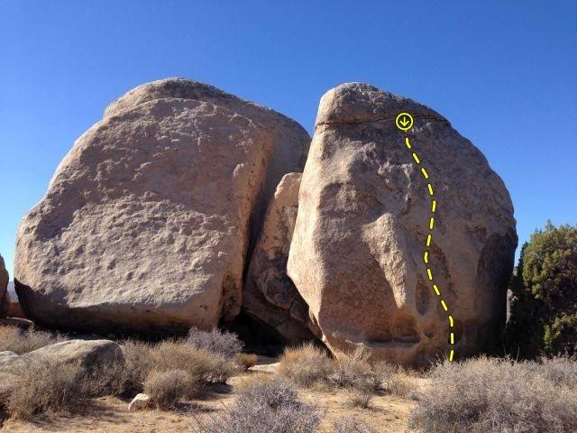 Rock Climbing Photo: Stems and Seeds (5.12a), Joshua Tree NP