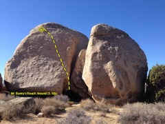 Rock Climbing Photo: Mr. Bunny's Reach Around (5.10b), Joshua Tree NP
