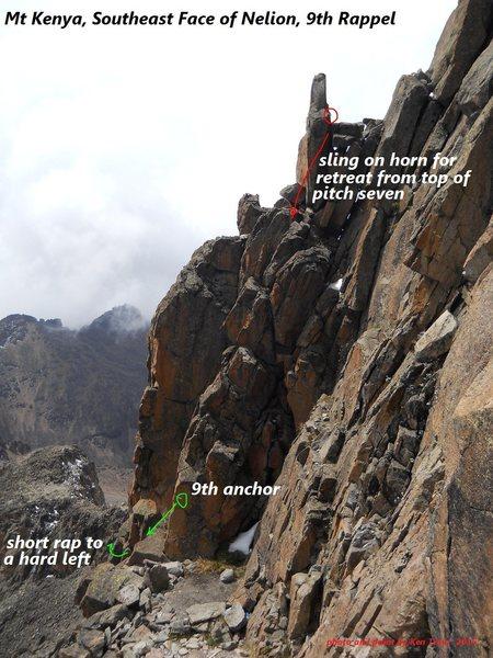 Rock Climbing Photo: 9th rappel anchor