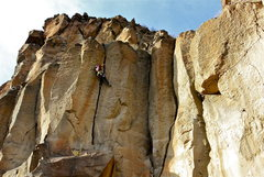 Rock Climbing Photo: Busting out the on-sight, great and powerful off-w...