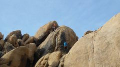 Rock Climbing Photo: The whole climb is sustained...so this is just in ...