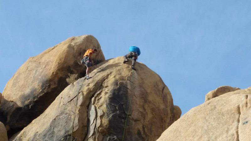 Rock Climbing Photo: climber on left (bill) is at the anchors for two f...