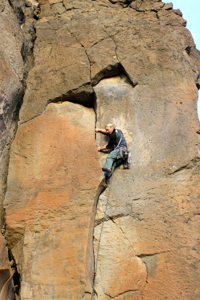 Rock Climbing Photo: Austin Kessler Getting after it with the on-sight!...