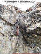 Rock Climbing Photo: Pitch Fourteen Crux