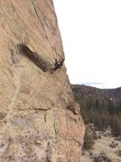 Rock Climbing Photo: Lukas resting at the sofa jug.
