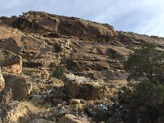 Rock Climbing Photo: The Cattle Guard Wall, Unaweep Canyon.