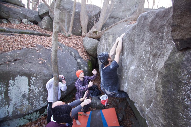 Rock Climbing Photo: Turkish Blend goes straight up to the slopers from...