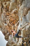 Rock Climbing Photo: John making his way up Apollo Reed