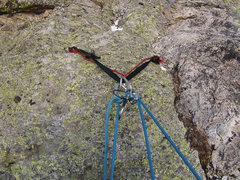 Rock Climbing Photo: Anchor as of 12/4/2015. Webbing and cord in excell...