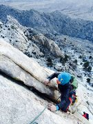 Rock Climbing Photo: Amy Ness topping out P7 on Violet Green
