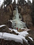 Rock Climbing Photo: 12/05/15 Conditions.  Right pillar in trees was ve...