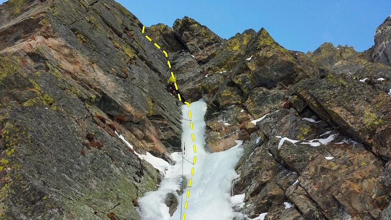 Rock Climbing Photo: Leading the route on 12/4/2015.