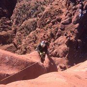 Rock Climbing Photo: lukas following