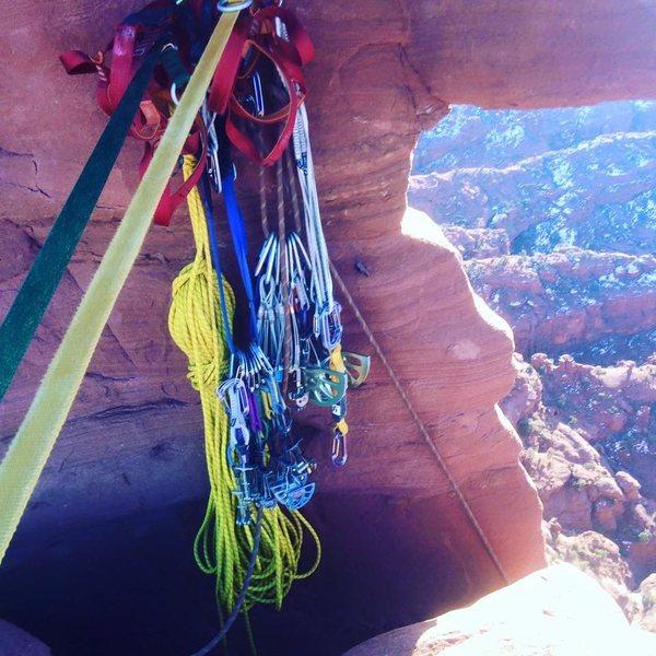 Rock Climbing Photo: staying organized