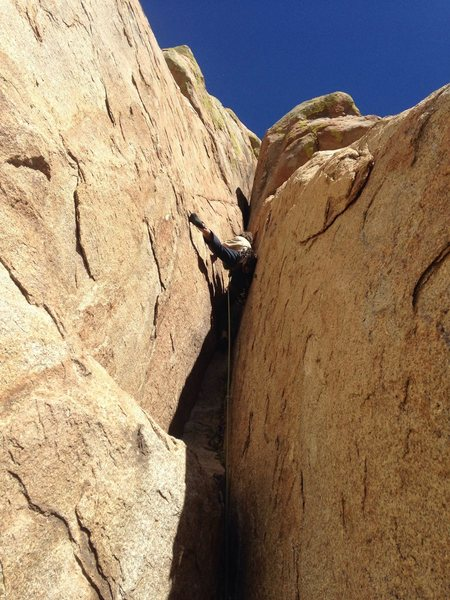 Rock Climbing Photo: Jack in the Chimney business of P4
