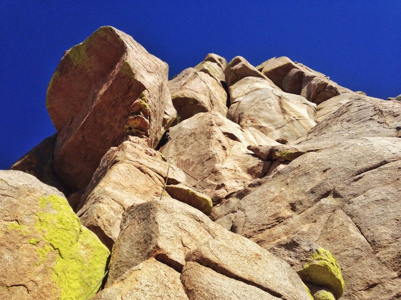 Rock Climbing Photo: Jack on Crisco Way, a stout 5.8!