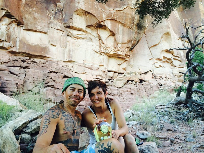 Rock Climbing Photo: Drinking tequila on the day we finished the trail ...